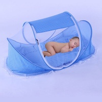 Baby Bedding Crib Netting Folding Baby Music Mosquito Nets Bed Mattress Pillow Three piece Suit For 0 2 Years Old Children Q7