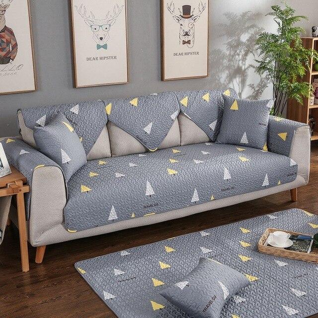 Urijk 1pc Twill Tree Wedding Decoration Sofa Covers Home Fabric Fleece Knit Anti Slip Couch