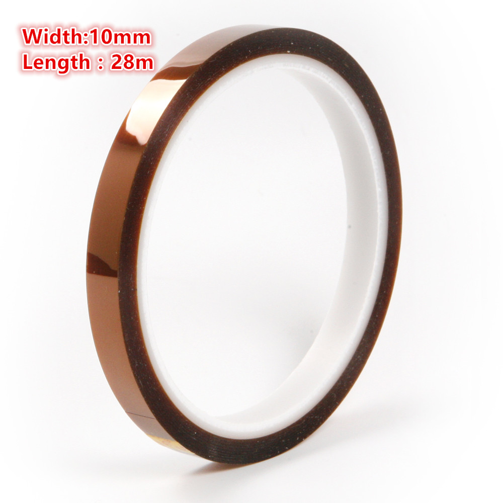 Hot Sale 6Pcs 10mm High Temperatur BGA Resistanting Kapton Tap Car Home Electric Appliance Anti-heat Polyimide Tape Car-styling