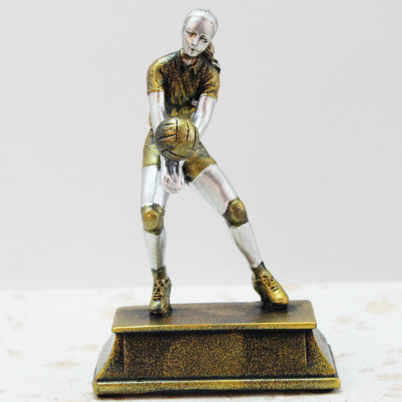 Sports Volleyball Players Statue Figurines Resin Crafts Office Decorative Sculpture Classic Model Figurines Home Decorations Toy in Figurines Miniatures from Home Garden