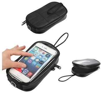Impermeable 7 pulgadas teléfono móvil cubierta para aceite tanque paquete bolsa de depósito de combustible para la motocicleta bolsa de navegación bolsa soporte Motor magnético