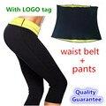 Calças + Cintura Cinto Shaper Pants Emagrecimento Quente Super Stretch Moletom Para Calcinha de Controle de Emagrecimento Shaper Do Corpo da Perda de Peso