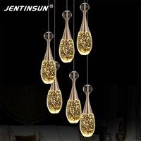 בקבוק בושם פשוטה מודרני LED בועת האופנה נקה אור קריסטל תליון מנורת תליית חדר אוכל בר מסעדת אורות