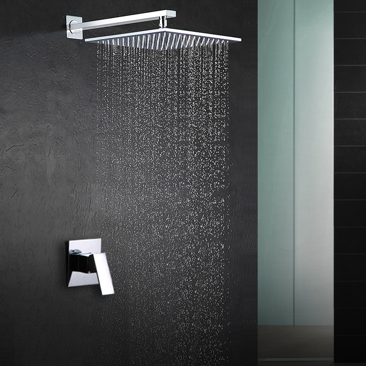 Factory Direct Supply of Concealed Embedded Wall Type Square Single Function Shower  Copper Casting Engineering Special Subject factory direct supply of stars hotel concealed embedded wall type cold and hot water shower function single copper body