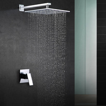 Factory Direct Supply of Concealed Embedded Wall Type Square Single Function Shower Copper Casting Engineering Special Subject