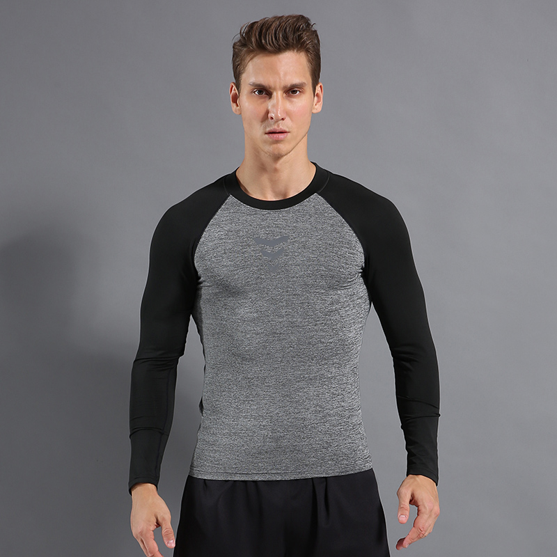 Compressed Shirt Men 39 s Fitness Running Long Sleeve Breathable Sports Shirt Gym Jersey Men 39 s Gymnastics Suit Running T Shirt in Running T Shirts from Sports amp Entertainment
