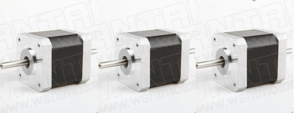 3pcs Nema17 Dual Shaft 42BYGHW811B 0.48N.m(70oz-in) 48mm 2.5A 3.1V 3D printer,cnc router mini motor step robotic3pcs Nema17 Dual Shaft 42BYGHW811B 0.48N.m(70oz-in) 48mm 2.5A 3.1V 3D printer,cnc router mini motor step robotic