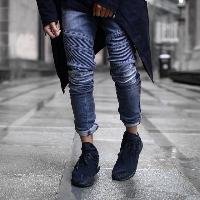 Yeezys Hip Hop Clothing Mens Fashion 29 36 Skinny Blue