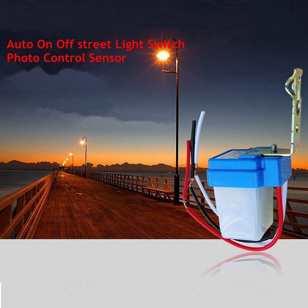 Automatic On Off Street Light Switch Photo Control Sensor For DC AC 12V 24V 220V