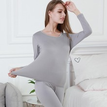 Women Winter Thermal Underwear Fashion Seamless Long Johns F