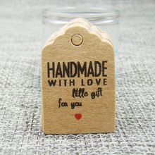 Vintage DIY handmade gifts tag  brown/white paper cute shape wedding favors /cookies products swing hang tag 100pcs per lot