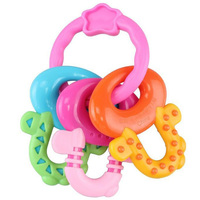 Baby Teethers 100 Food Grade Silicone Key Shape Baby Toys Dental Care Toothbrush Training Silicone Teether