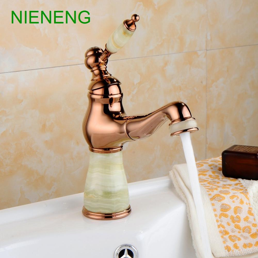 NIENENG basin faucet pull out sprayer faucets sumptuous bathroom bowlder sink faucet mixer tap home facility water taps ICD60218
