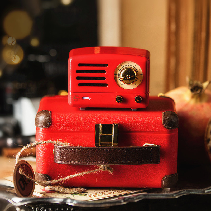 New MAOKING the Little Prince Tesslor Bluetooth speaker Hippie red OTR MINI Wireless Music box Player MW-1A gift for girlNew MAOKING the Little Prince Tesslor Bluetooth speaker Hippie red OTR MINI Wireless Music box Player MW-1A gift for girl