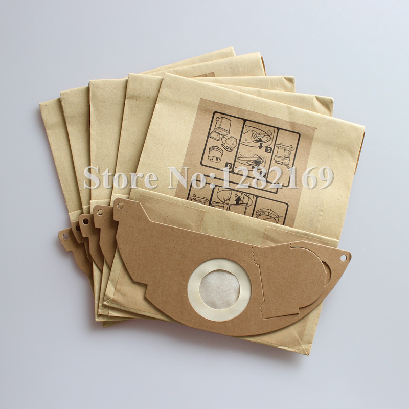 5 pieces/lot Vacuum Cleaner Bag Filter Paper Dust Bag for Karcher Wet & Dry A2000 A2054 A2004 A2014 MD2 etc. цена