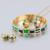 Dubai Conjuntos de jóias de Moda Esmalte Do Vintage Anéis de Aço Inoxidável Banhado A Ouro Brincos Pulseira Conjuntos de Colar para As Mulheres Do Partido