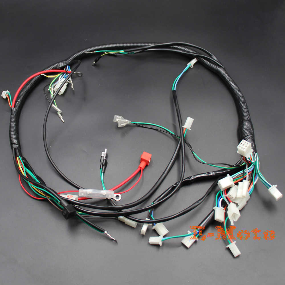 detail feedback questions about electric parts wire cable wiring harness  loom zongshen loncin lifan 150cc 200c 250cc 300cc atv quad bike new e moto  on