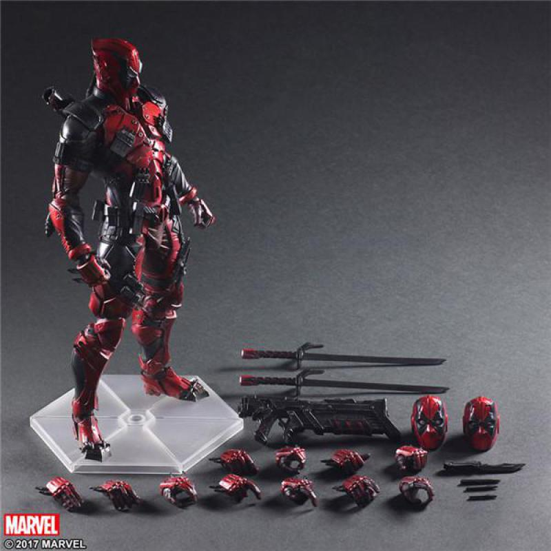 Play Arts Marvel Super Hero Deadpool Action Figure PA Toys 10 25cm metal gear solid v the phantom pain play arts flaming man action figure super hero
