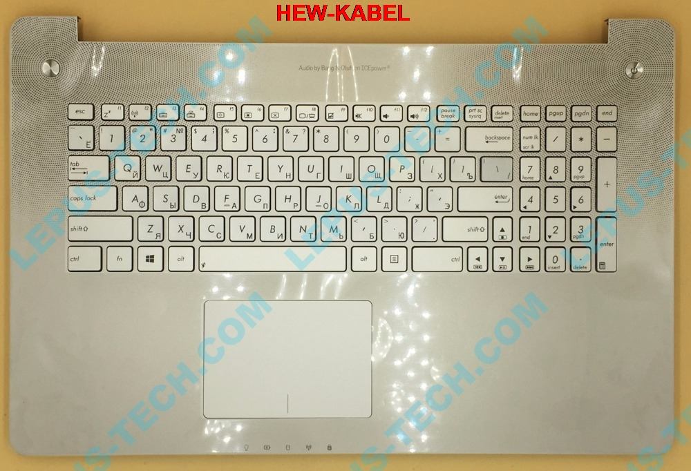 RU Keyboard for ASUS N750 N750JK N750JV with backlight top case palmrest R layout