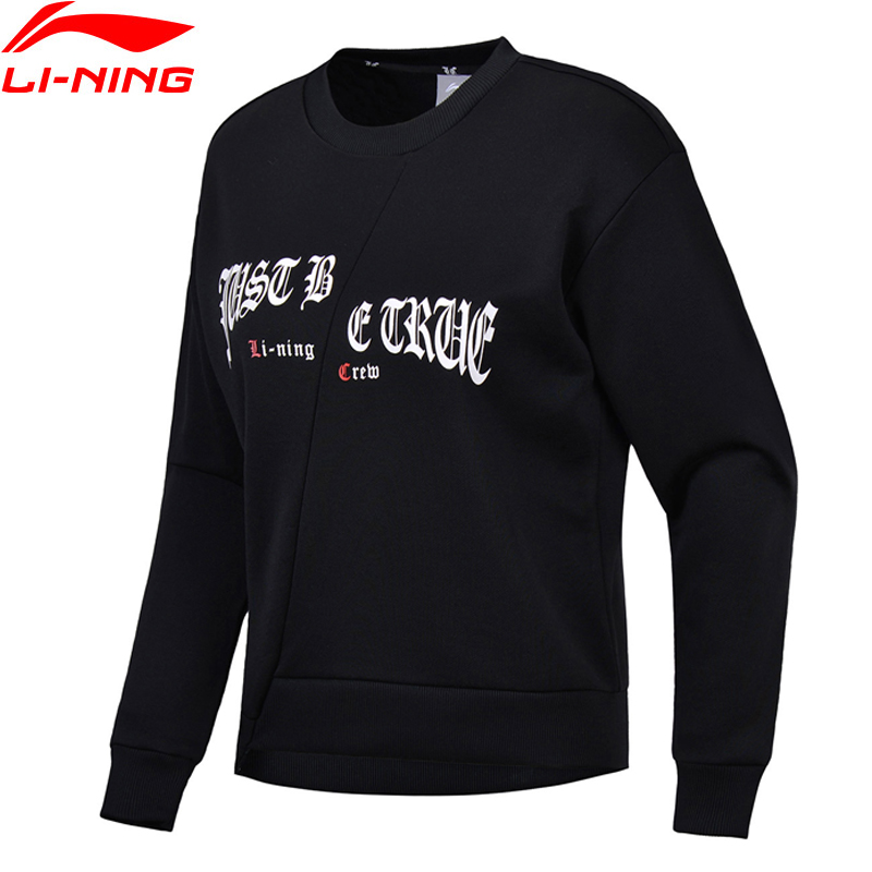 Sportbekleidung Trainings- & Übungs-sweater Bescheiden Li-ning Frauen Die Trend Po Knit Top Pullover Lose Fit Komfort Fitness Freizeit Sportwear Futter Sport Pullover Awdn016 Www968