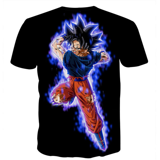 e009431cf91 Men Short Sleeve T Shirt Dragon Ball Ultra Instinct Super Vegito Son Goku Z  Fighters 3D Print T-Shirt Plus Size Clothing