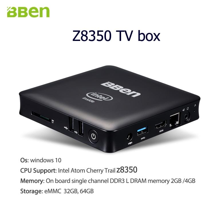 Bben mini pc windows 10 os quad core intel cpu z8350 processor  2gb+32gb,4gb+64gb option with HDMI LAN USB3 0+USB2 0 headset port-in Mini  PC from