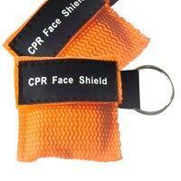 500 шт./упак. мини КПП реаниматолог маска брелок для ключей КПП ЛИЦА ЩИТ с односторонним клапан оранжевый нейлоновая сумка анти доказательств