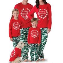 Рождественский родитель-набор одежды для ребенка, г. Новогодняя Красная рождественская Пижама, Семейные комплекты, пижамы для взрослых, женщин и детей