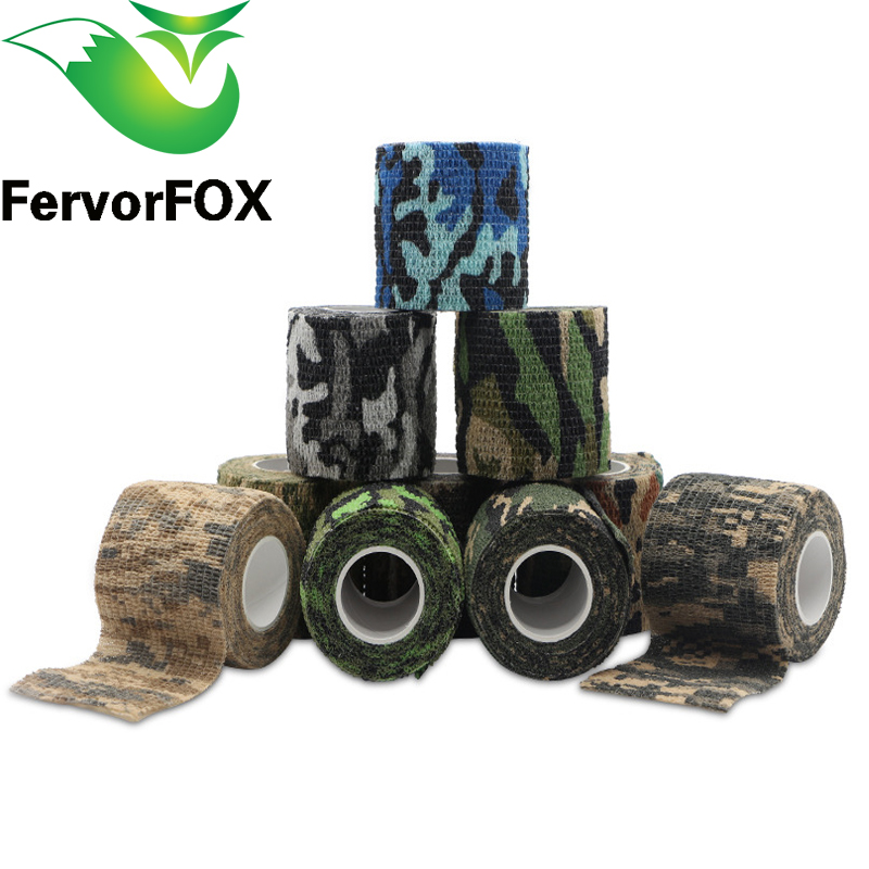 5cmx4.5m Multi-functional Camo Tape Non-woven Self-adhesive Camouflage Hunting Paintball Airsoft Rifle Waterproof Rifle