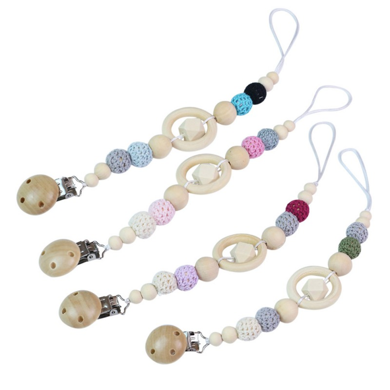Baby Care Universal Holder Leash For Pacifiers Nipples Clip Chain Infant Child Soother Beaded Chains Teethers