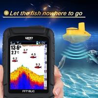 Lucky Brand Fish Finder Wireless Portable 45M 147Feet Sonar Depth Waterproof Fishfinder Ocean River Lake Carp