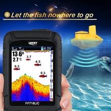 Marca Lucky Buscador de Los Pescados Portátil Inalámbrico 45 M/147 Pies de Profundidad Sonar Localizador Impermeable Océano Ríos de Pesca de La Carpa FF718LiC-W