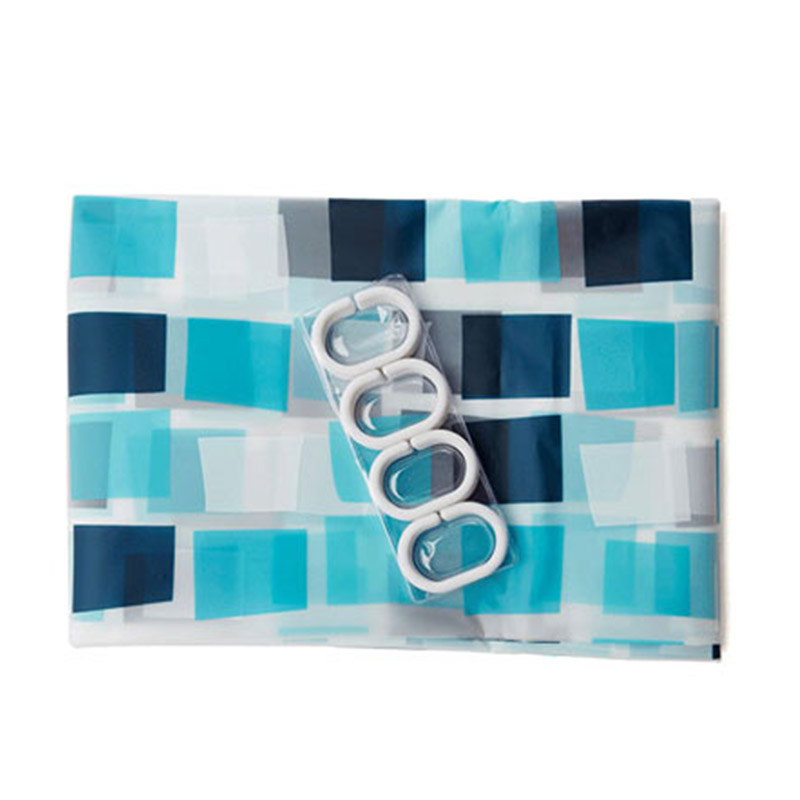 Elegante rasterstijl Waterdichte douchegordijnen Warme ondoorzichtige - Huishouden - Foto 6