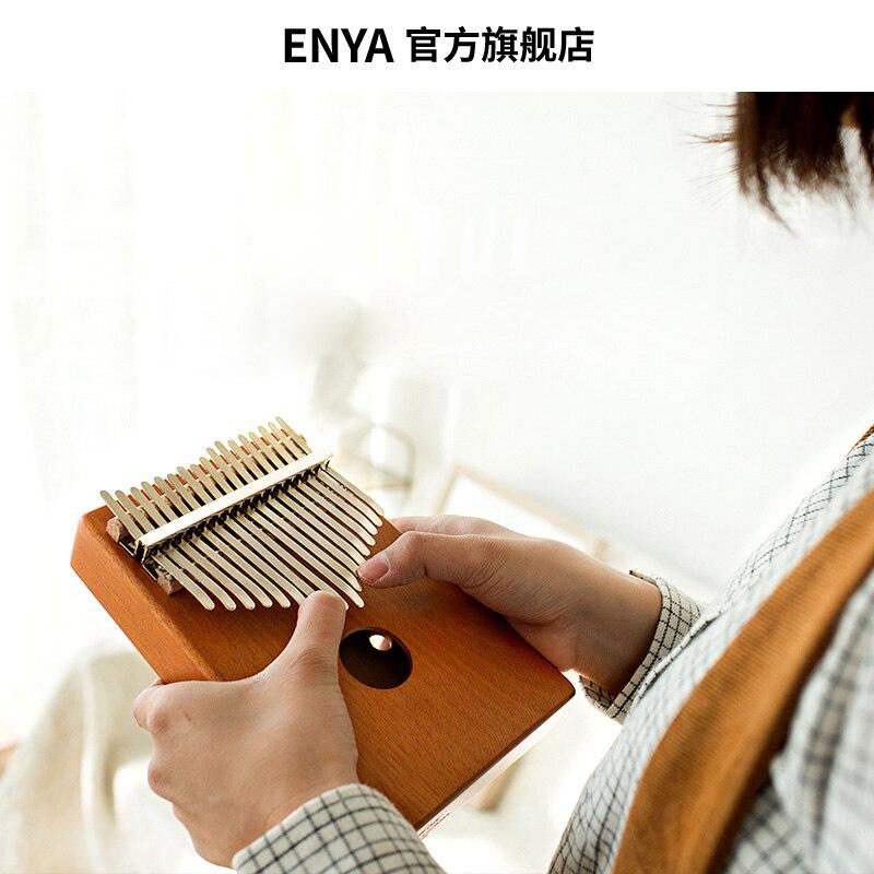 Enya 17 Toetsen Kalimba met bag Solid Mahonie Palissander Bamboe Duim Piano Mbira Calimba muziekinstrumenten - 3