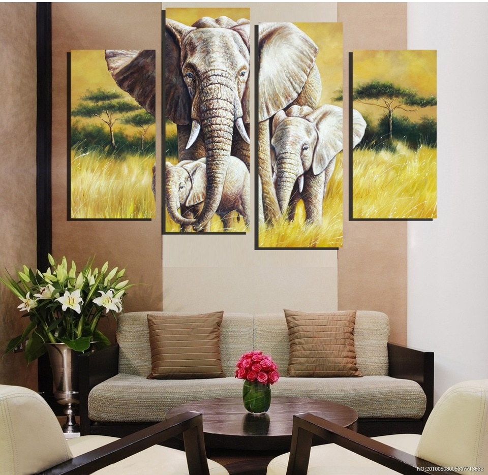 online get cheap family canvas prints aliexpress com alibaba group 4pieces frameless canvas printings wall decor painting canvas art picture for living room home decoration animal