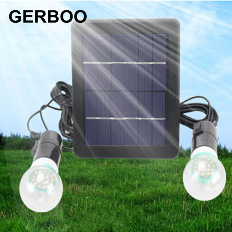 Outdoor Solar Power Panel 2 Led Fence