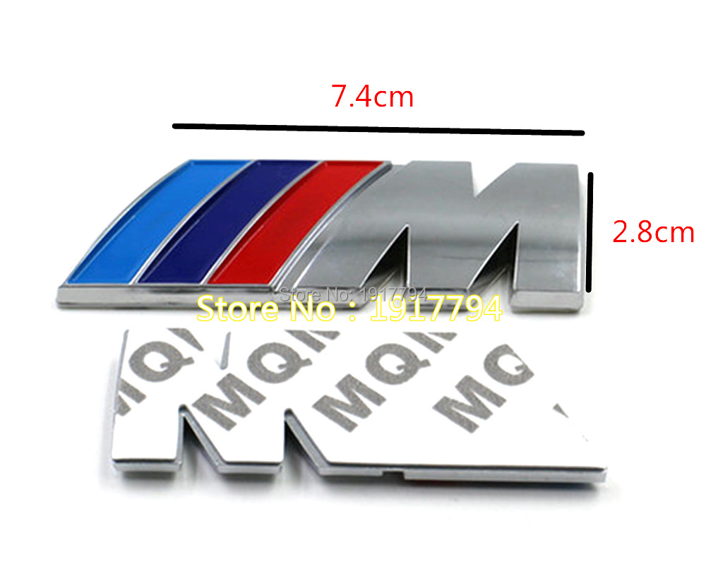 20pcs hot selling M power Series ABS Logo Sticker Emblem Badge Chrom FOR BMW 1 <font><b>3</b></font> <font><b>4</b></font> 5 6 <font><b>7</b></font> E Z <font><b>X</b></font> M3 M5 M6 Mline sticker