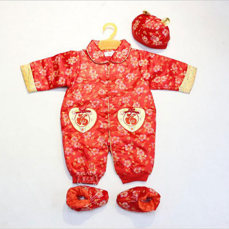 New fashion baby girls boy clothing set 3pcs long sleeved romper hat