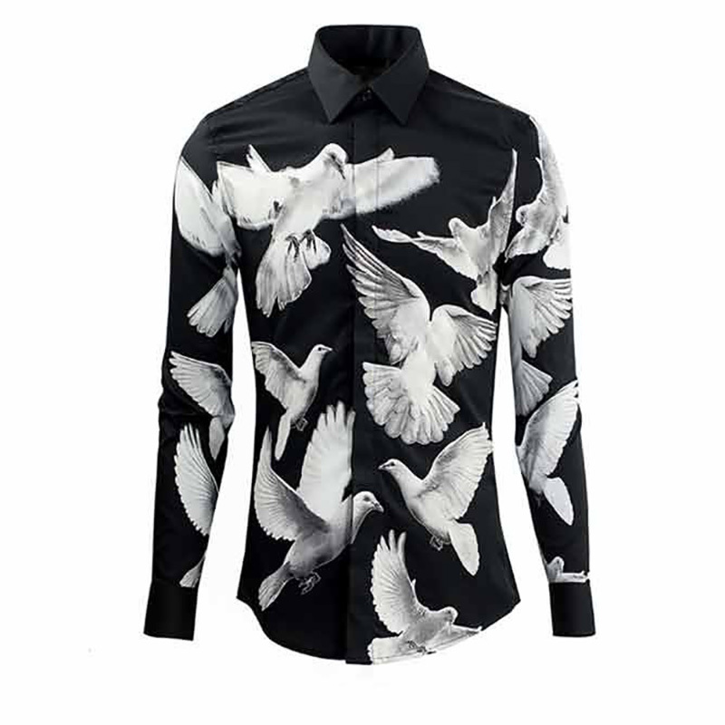 Aliexpress.com : Buy Men Shirt New Fashion Design White Pigeon ...