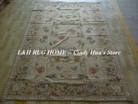 Free shipping 10K 6'x9' Handmade carpets needlepoint woolen rugs in rich colors handmade for home decoration