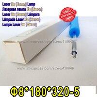 Высокое качество 1 пара лазерной Xe лампа Размеры 8*180*320 5 Диаметр 8 мм Длина 320 мм лампа подходит для большинства лазерной резки