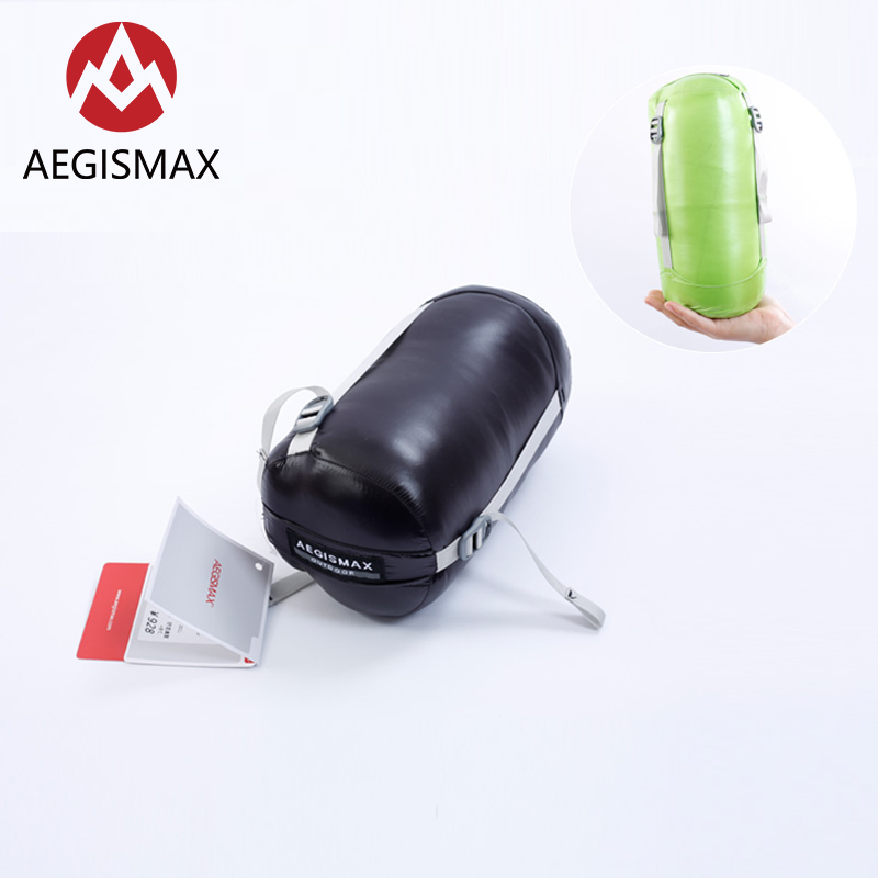 AEGISMAX MINI 800FP White Goose Down Mummy Adult Outdoor Camping Ultralight Spring Autumn Summer Three-Season Sleeping Bag