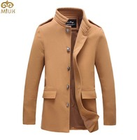 Размер твердых Плюс Шерсть Пальто Мужчины M ~ 5XL 5 Цвет Черный Серый Slim Fit Длинные Пальто Шанца Мужчины Формальные Мужские Пальто 2017 новый