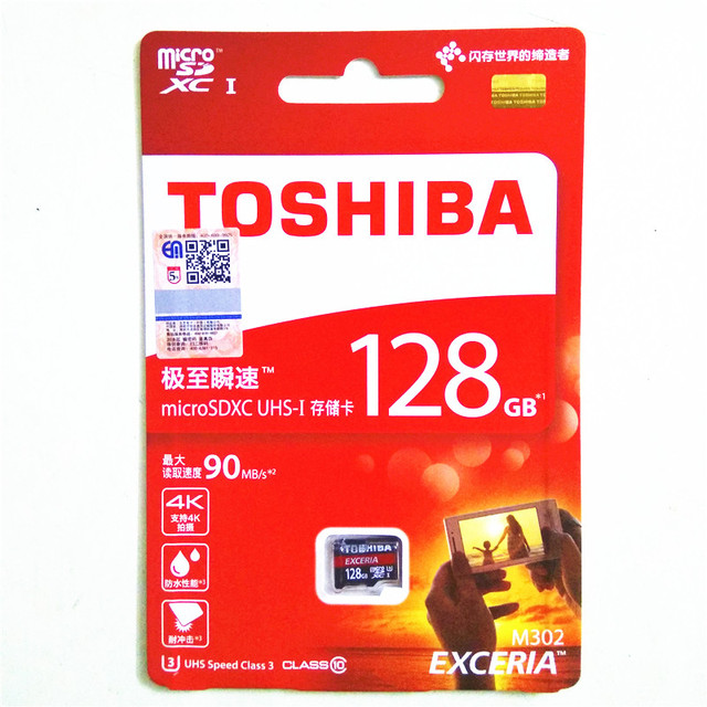 TOSHIBA micro sd card 128gb class 10 Real Capacity SDXC U3 90M/S Memory Card Micro SD Card free adapter For Phone/Tablet/Camera