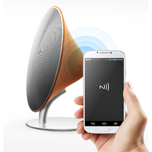 Wooden Vintage NFC Speaker SOLO ONE Bluetooth Wireless Speakers Stereo Super Bass Touch Button Aux for IOS Smartphone Tablet PC