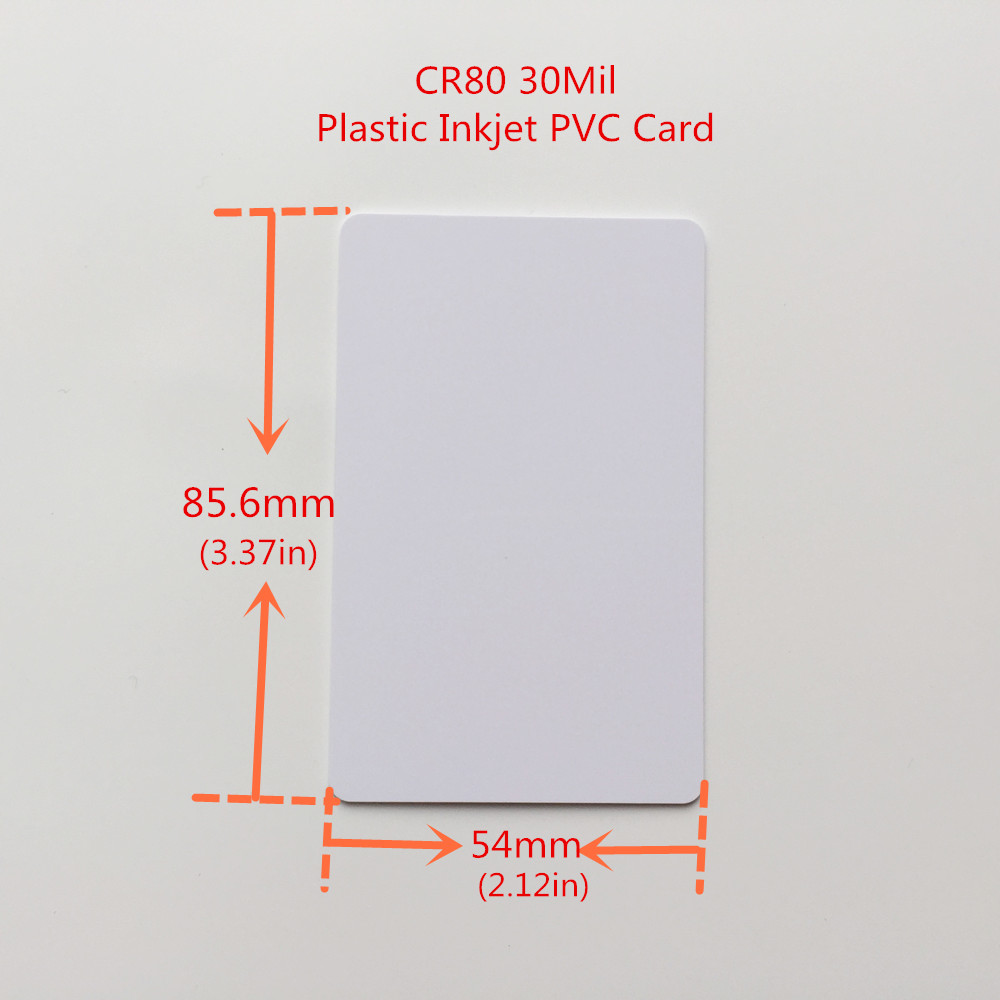 medium resolution of white inkjet printable blank pvc card for membership card club card id card printed by epson or canon inkjet printers cr80 size in business cards from