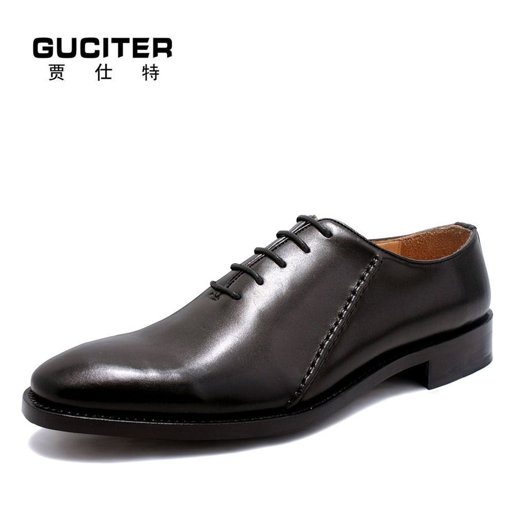 Free shipping Customize Italian Style Handmade dress Men's Genuine Leather Shoes Goodyear Pointed Toe lacing Penny Oxford  Shoes customize italian style handmade men s carved genuine leather shoes goodyear round toe lace up dress wedding prom oxfords shoes