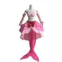New Mermaid Melody Pichi Pichi Pitch Lucia Nanami Dress Cosplay Costume