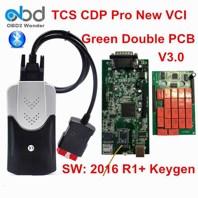 US $33 99 |Multidiag TCS CDP Pro V3 0 Bluetooth 2016 00 With Keygen Car  Diagnostic Tool Double Board Green PCB CDP+ Auto Scanner For Car-in Code