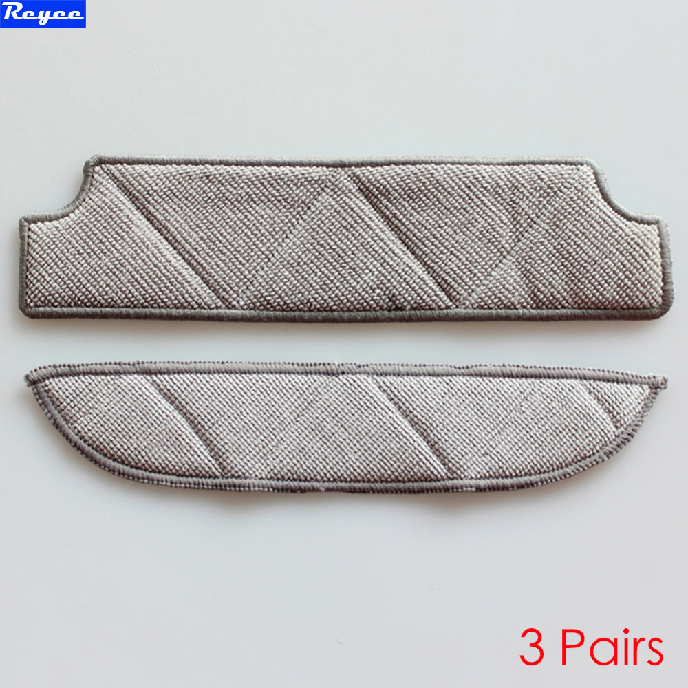 3Pairs Mopping Cleaning cloth Dishcloth dishrag For Ecovacs Winbot W710 W730 TBW60TG TBW61 WRN60 WRN70 Replacement Parts
